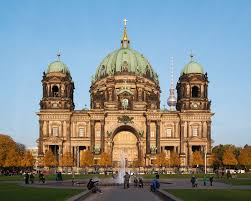 Man in Berlin Cathedral Shot in Leg