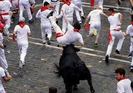Pamplona Bull-run Death