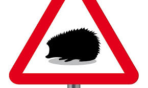 Hedgehog Road Signs