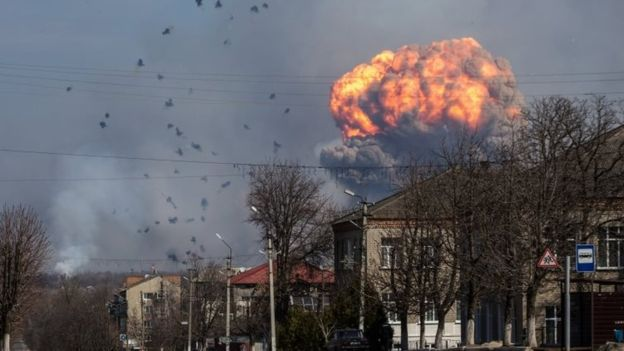 Ukraine munitions blasts prompt mass evacuations